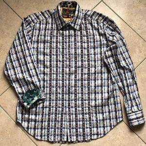 Robert Graham amazing button down shirt sz XL